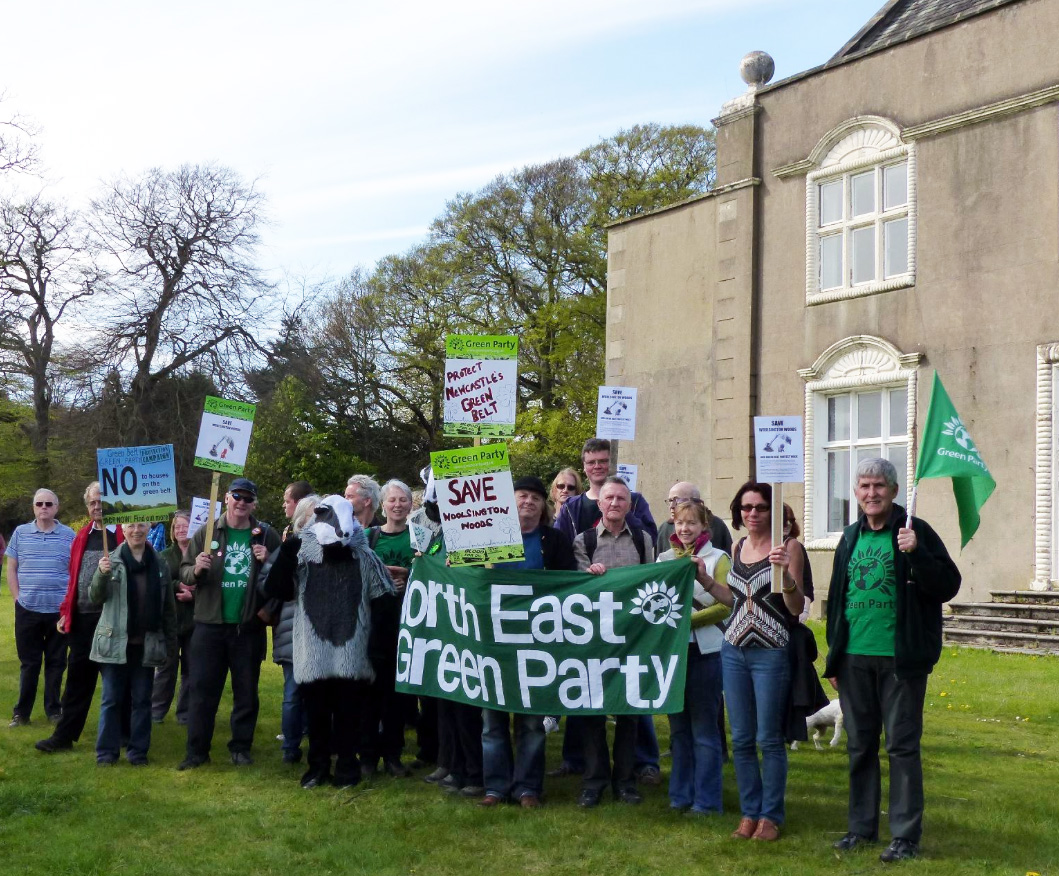Greens Protest Woolsington hall development May 2015